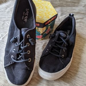 Sperry top-siders black lace up sz 8.5